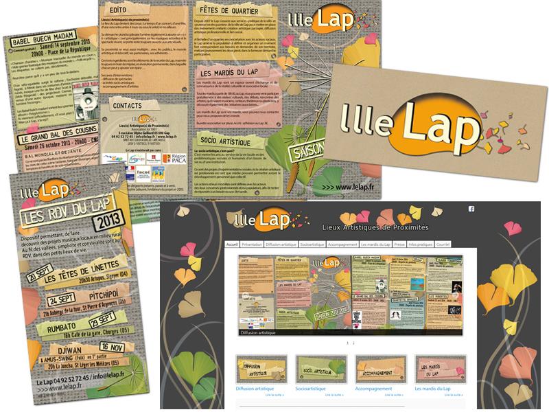 Création et déclinaison graphique pour Le Lap