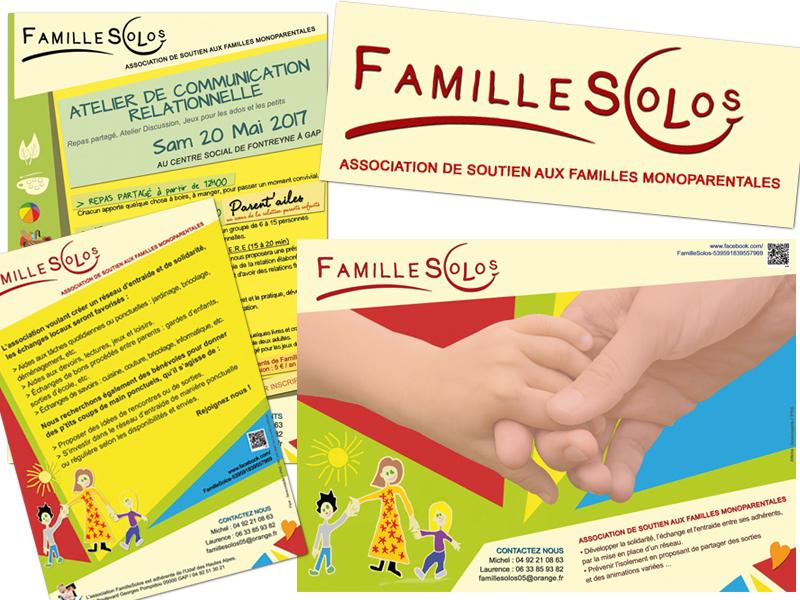 Création et déclinaison graphique pour FamilleSolos