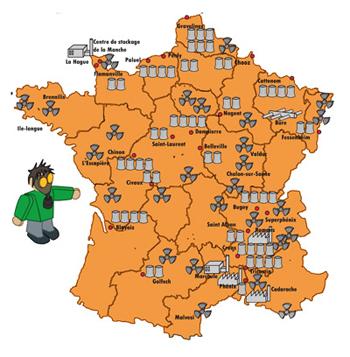 Shéma le nucléaire en France