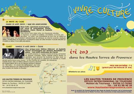 Flyer Vivre Culture 2013