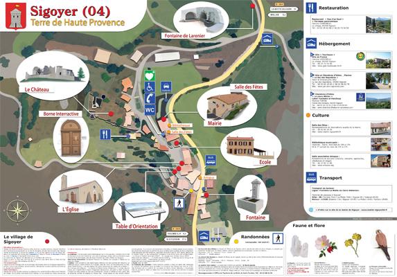 Plan du village de Sigoyer (04)