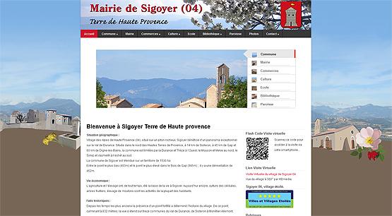 Mairie de Sigoyer (04), Alpes de Haute Provence