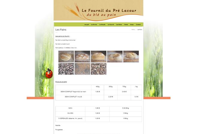 Le Fournil du Pré Lacour, du blé au pain. Thèze (04)